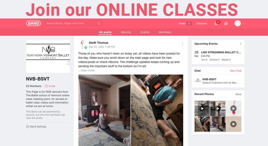 Ballet School of Vermont Online Ballet Classes